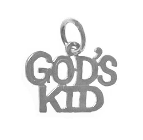 "Style #319-15, Sterling Silver, Sayings Pendant, ""GOD'S KID"""