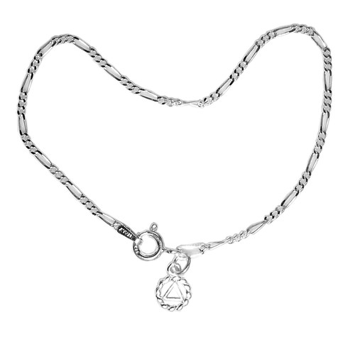 "Style #141-14, Lt. Figaro Style 7"" Bracelet, Your Choice of 5 Different Anonymous Charms"