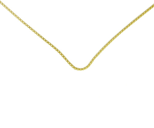 Style #212-14, $235-$320, Med. Box Chain, 14k Gold, Available in 3 Different Sizes