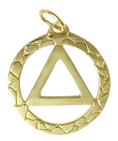Style #516-2, 14k Gold, AA Nugget Style Pendant, Medium Size