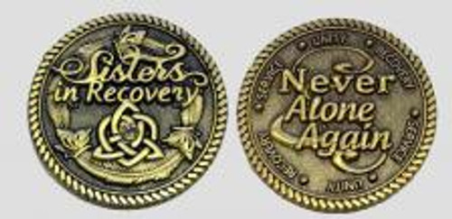 beautiful bronze token of love for sisters in recovery. check it out ladies!