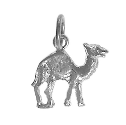 "Style #70-16, Sterling Silver Pendant, Adorable Camel ""Can Go 24 Hours Without A Drink"""