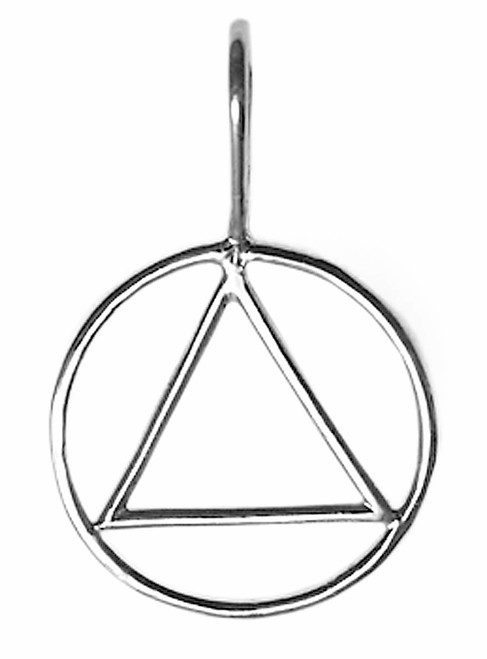 Style #387-1, Medium Size, Sterling Silver Simple Wire Look Pendant