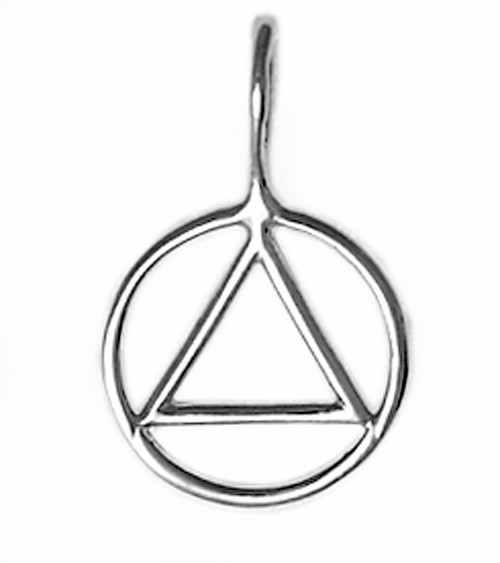 Style #338-1, Small Size, Sterling Silver Simple Wire Look Pendant