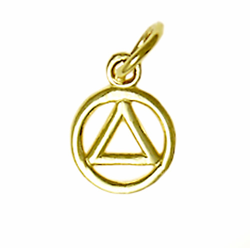 Style #49-1, 14k Gold, Small Circle Triangle Pendant
