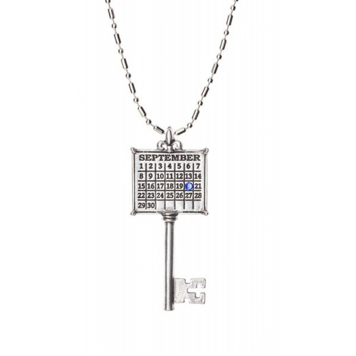"""Your Special Day"" Key Calendar Necklace with Swarovski Crystal (Ball chain included)"