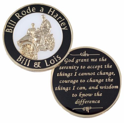Bill Rode a Harley Medallion. NEW!