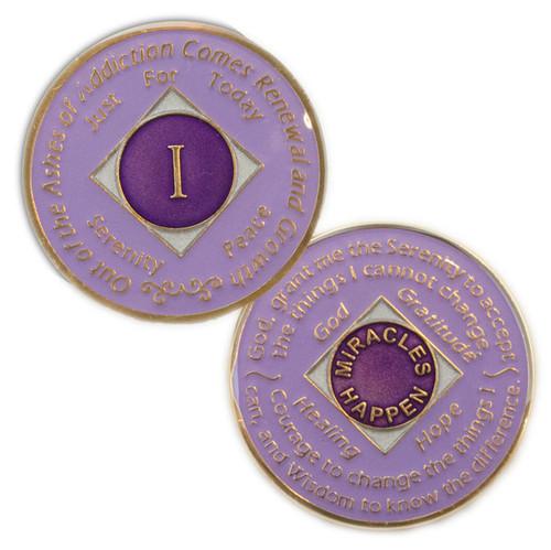NA Lavender Medallion (Yrs 1-30). NEW!