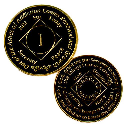 NA Medallion Black (Yrs 1-10) NEW!