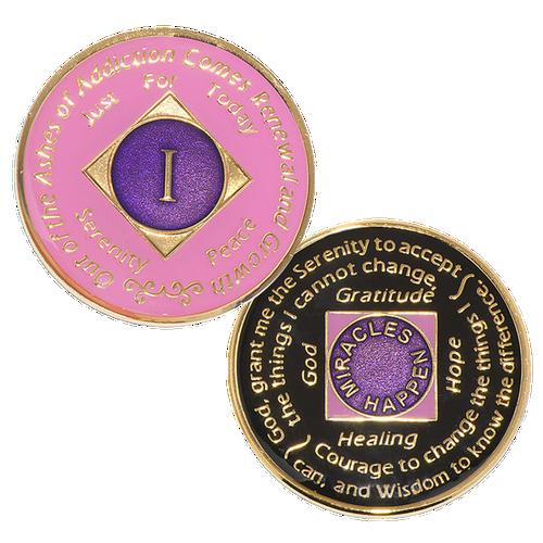 NA Medallion Pink (Yrs 1-30)