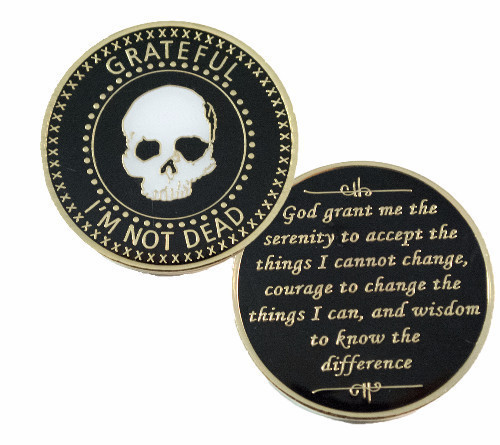 Grateful I'm Not Dead Skull Recovery Coin- Keep Coming Back