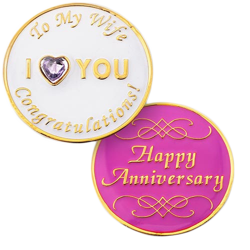 Wife Anniversary Medallion. NEW!