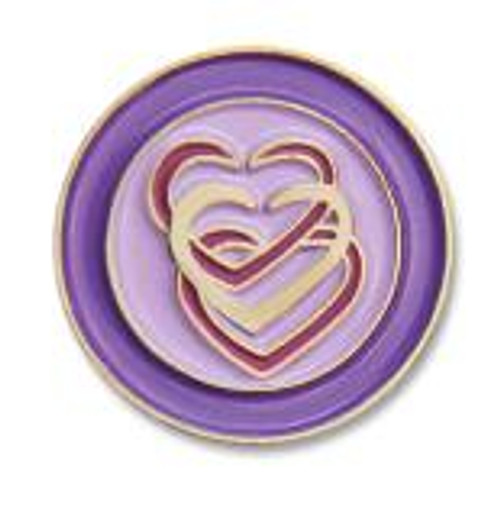 "My Heart 1/2"" Recovery Lapel Pin"