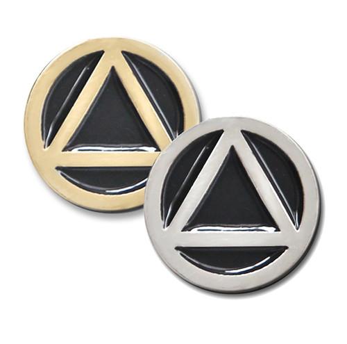 """AA Circle / Triangle 1/2"""" Lapel Pin"""