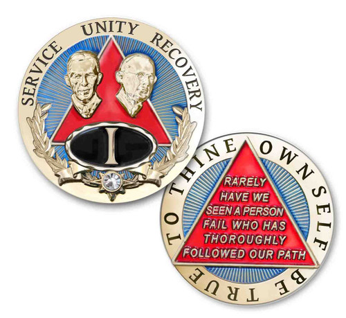 Regal brand new recovery medallion with bill and bob. To thine own self be true.