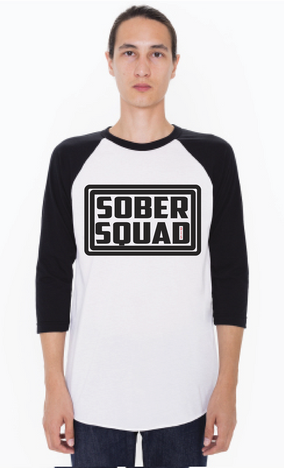 Sober Squad Raglan Tee! Unisex T-Shirt - Join The Squad