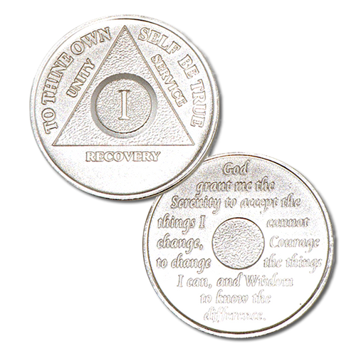 AA Recovery Medallion Sterling Silver (Years 1-50) *5 Year Increments After 30