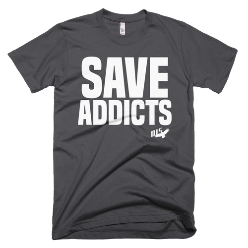 """Save Addicts"" Mens Anvil Lightweight Short Sleeve Men's T-Shirt"