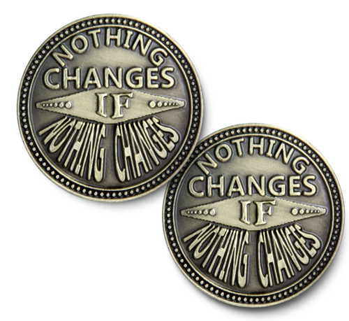 """Nothing Changes"" Bronze Coin"