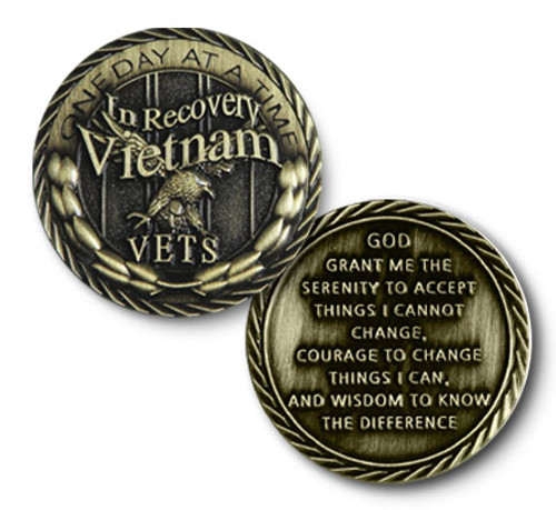 Vietnam Vets in Recovery Bronze Coin