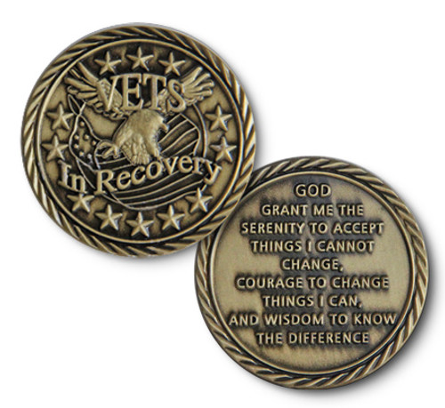 Gorgeous American Military Recovery Coin. Specialty for all the soldiers that serve and stay sober. Bronze and beautiful!