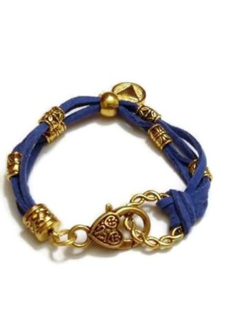 Blue Suede Alcoholics Anonymous Charm Bracelet - AA  12 Step Program Jewelry!