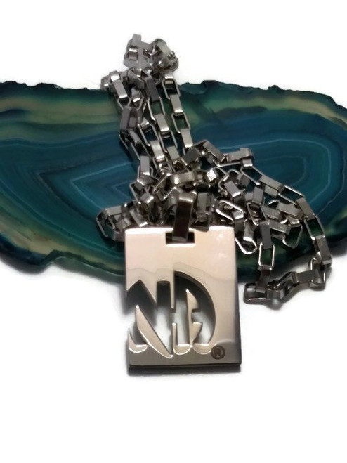 Sober is sexy with this Mens NA stainless steel pendant necklace!