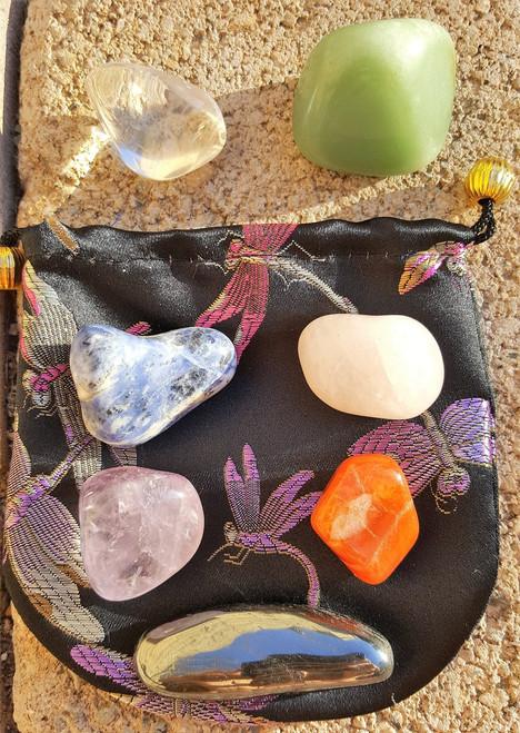 Chakra Healing Stones Starter Kit - 8 Size Large