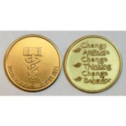 Bronze Drug Court Coin