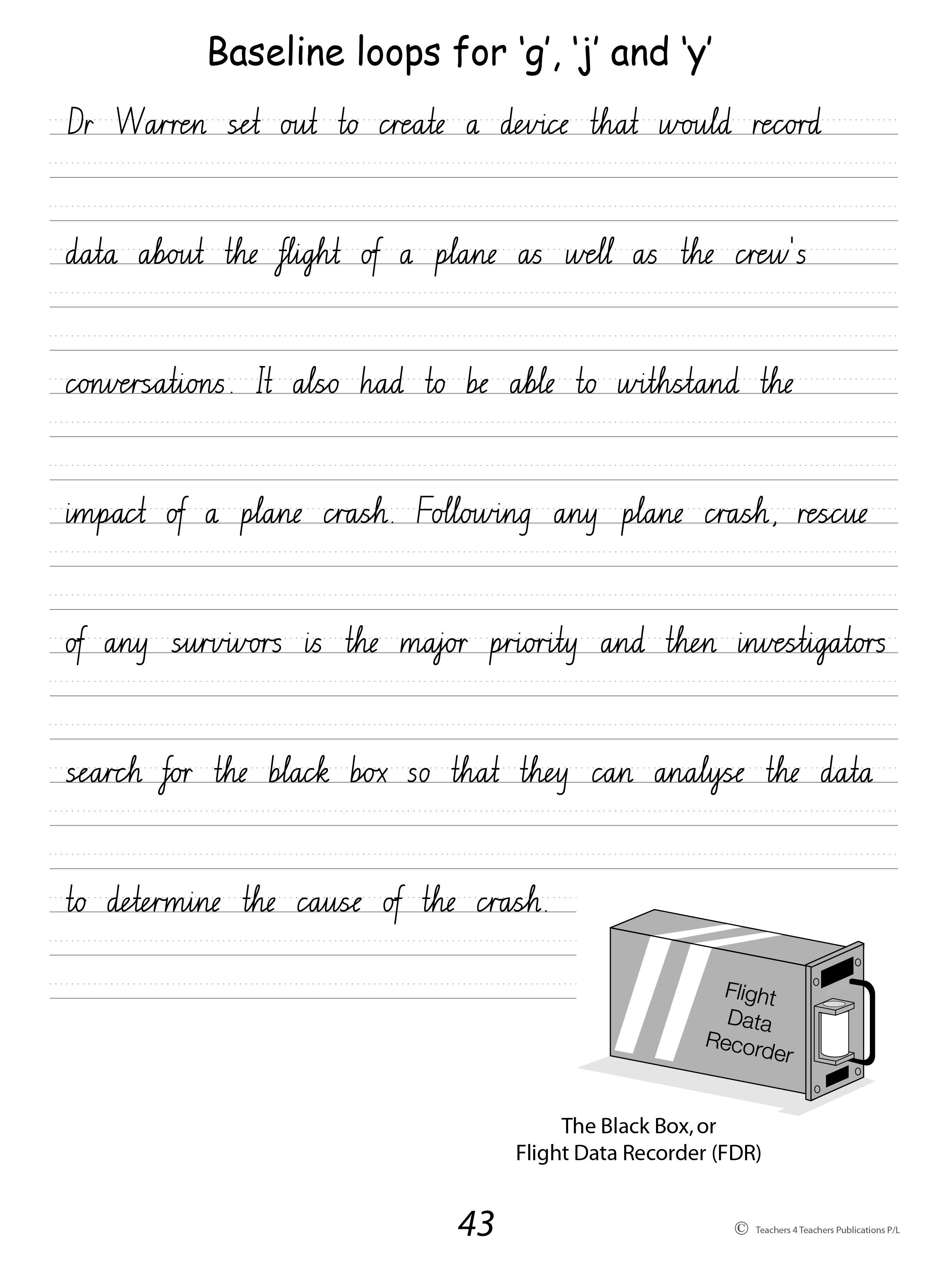 handwriting conventions new south wales teachers 4 teachers publications pty ltd. Black Bedroom Furniture Sets. Home Design Ideas