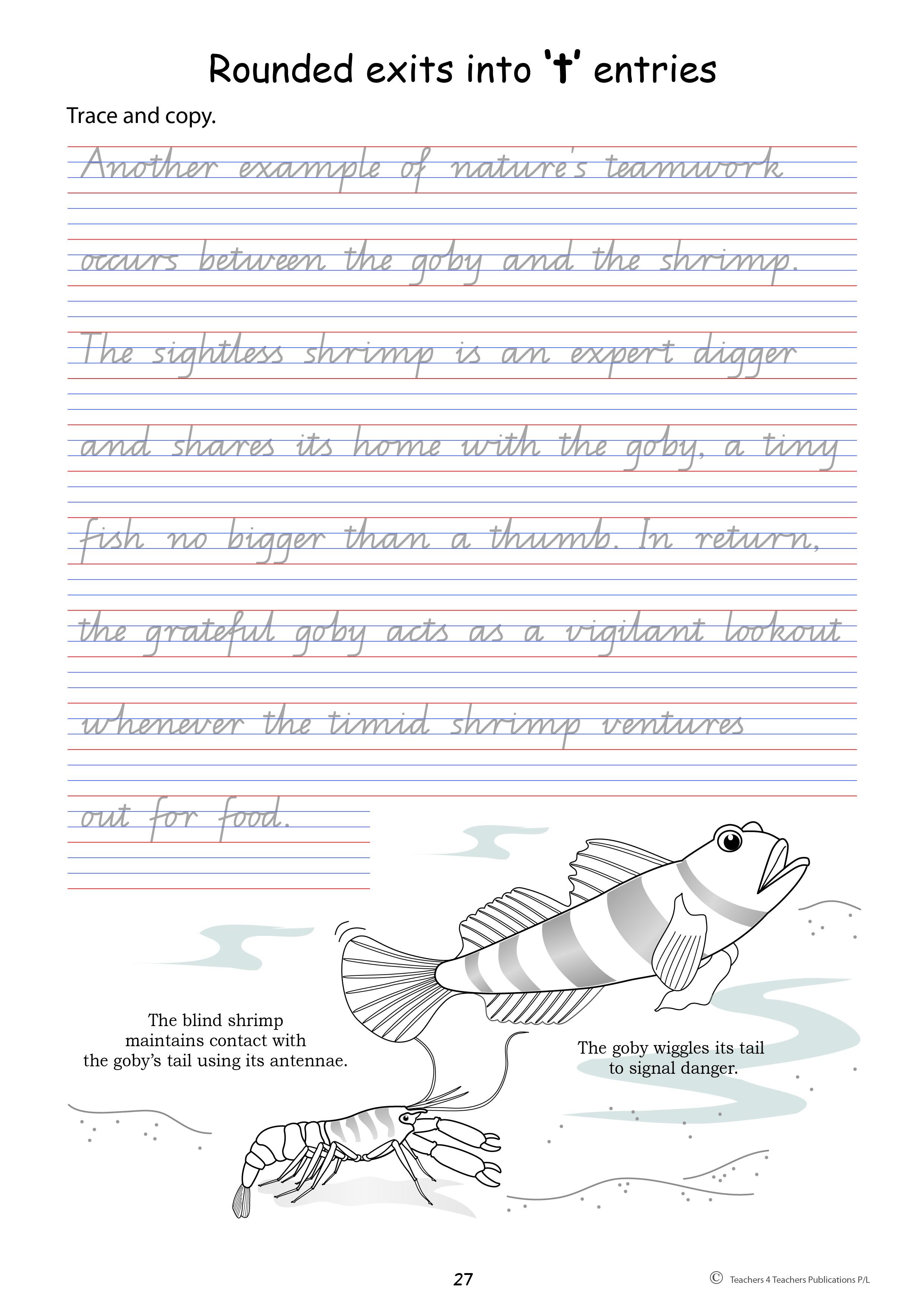 Year 3 Handwriting Sheets