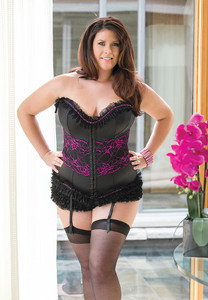 Romantic Corset in Black with Pink