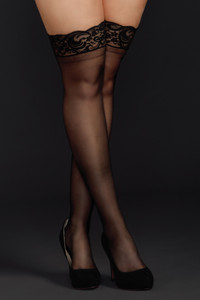 Lace Top Sheer Thigh High