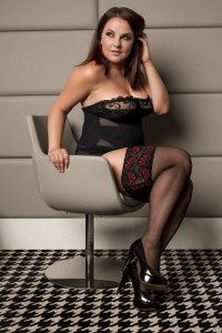 Thigh Highs with Broad Floral Lace in Extra Plus Size