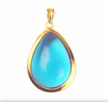Framed Teardrop Pendant 14kt. Gold