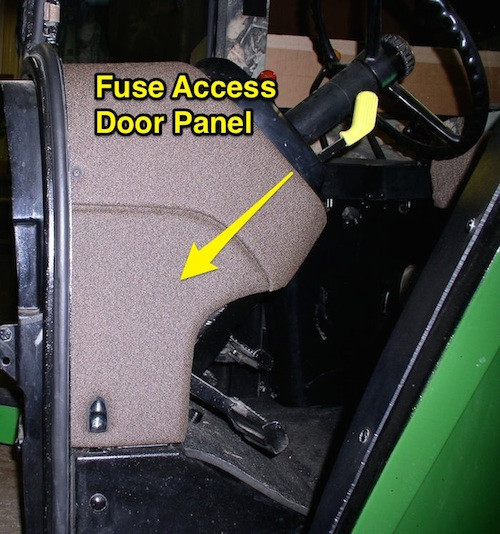 Fuse Access Door Panel John Deere 4055 4255 4455 4555 4755 4955 – John Deere 7230 Fuse Box