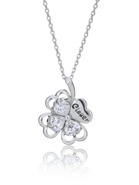 A Clover with Pizzazz Pendant Necklace 35120