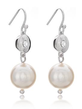 Modern Eyelet Pearl Earring 21478