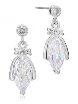 Catherine's Bow CZ Earrings
