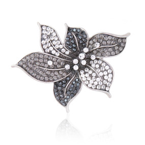 Sophisticated Crystal Flower Brooch  | Brooches