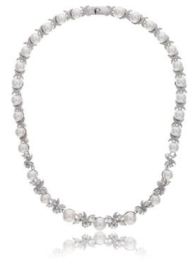 Carolyn's Floral CZ & Pearl Necklace 4 | Necklaces