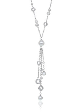 Jillian's Crystal & Pearl Lariat Necklace 4 | Necklaces