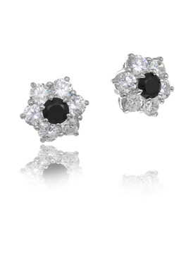 Dennis's CZ Flower Earrings  | Earrings