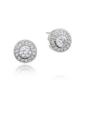 Sunshine CZ Circle Earrings  | Earrings
