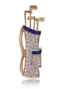 Crystal Golf-Bag Brooch  | Brooches