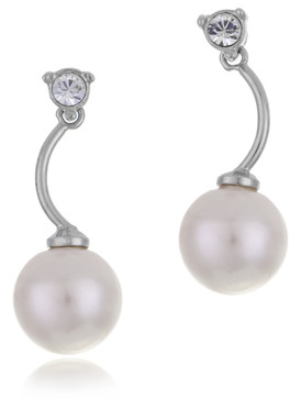Amanda's CZ Pearl Drop Earrings  | Earrings
