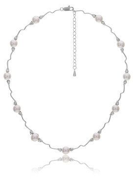 Amanda's CZ Pearl Necklace  | Necklaces