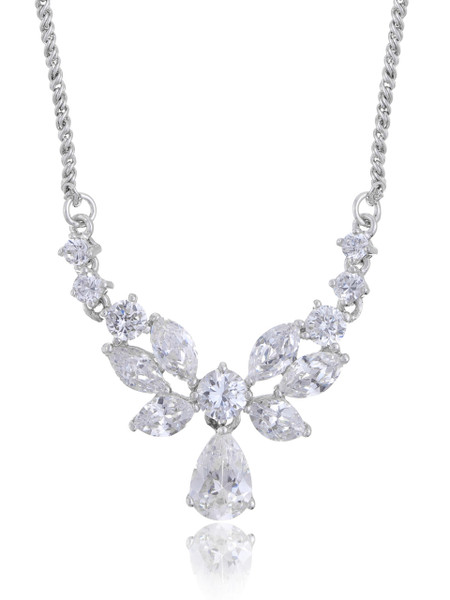 Carolee's Floral CZ Teardrop Necklace  | Necklaces
