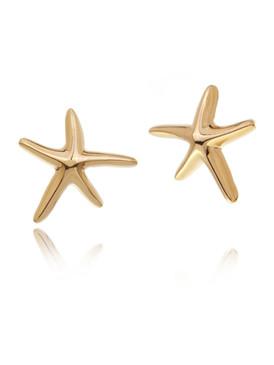 Simple Starfish Design Earrings 32403