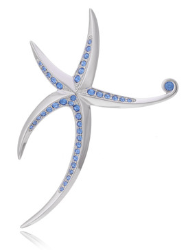 Tahlia's Crystal Starfish Brooch  | Brooches